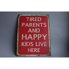 """Dekoratīvā plāksne """" Happy kids """""""